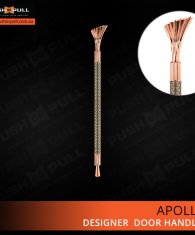 Apollo Rose Gold Bronze Door Handle Titanium Bronze handle