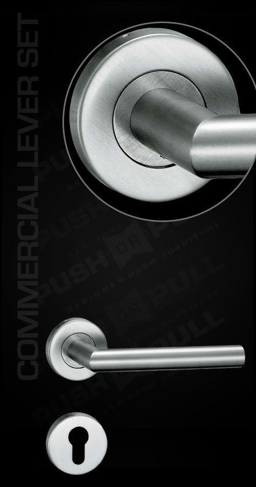 Commercial Lever Set - Push or Pull - Architectural Door Handles